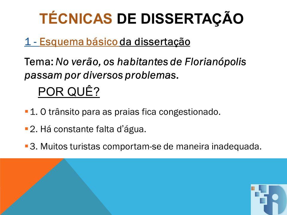 TÉCNICAS DE DISSERTAÇÃO