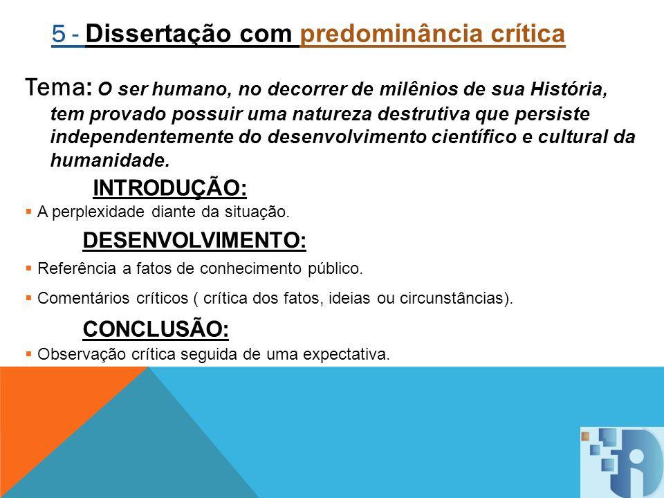 5 - Dissertação com predominância crítica
