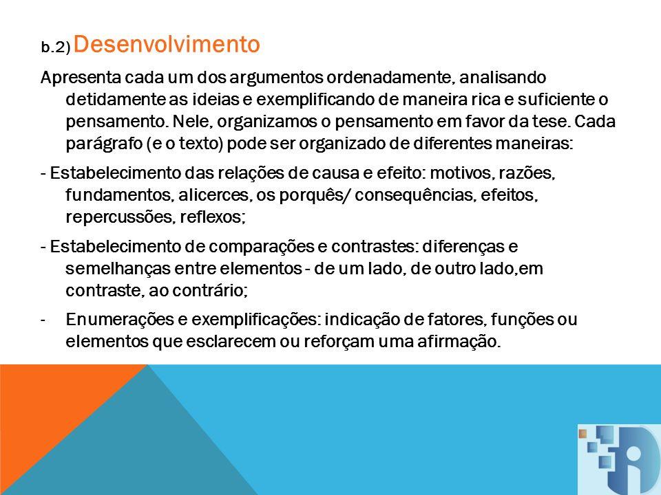 b.2) Desenvolvimento