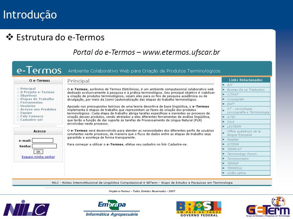 Portal do e-Termos – www.etermos.ufscar.br