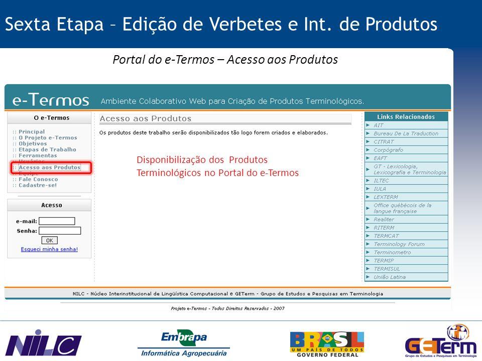 Portal do e-Termos – Acesso aos Produtos
