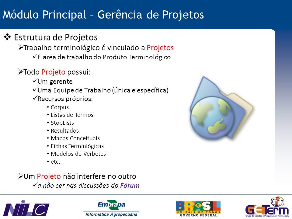 Módulo Principal – Gerência de Projetos