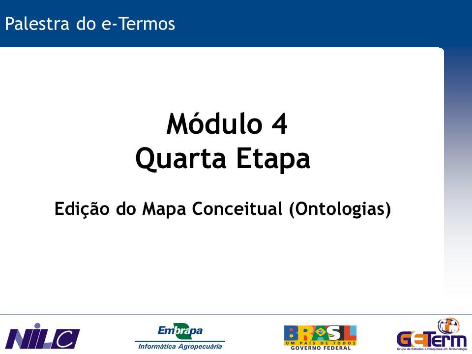 Edição do Mapa Conceitual (Ontologias)