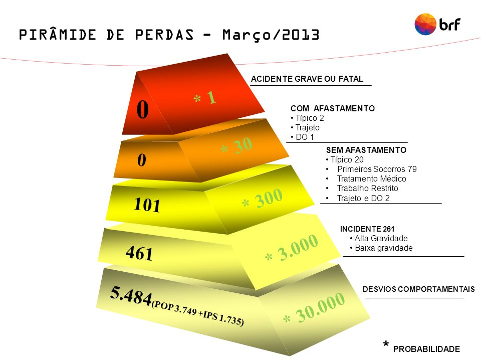 PIRÂMIDE DE PERDAS - Março/2013