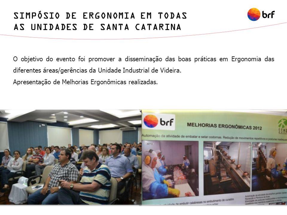 SIMPÓSIO DE ERGONOMIA EM TODAS AS UNIDADES DE SANTA CATARINA