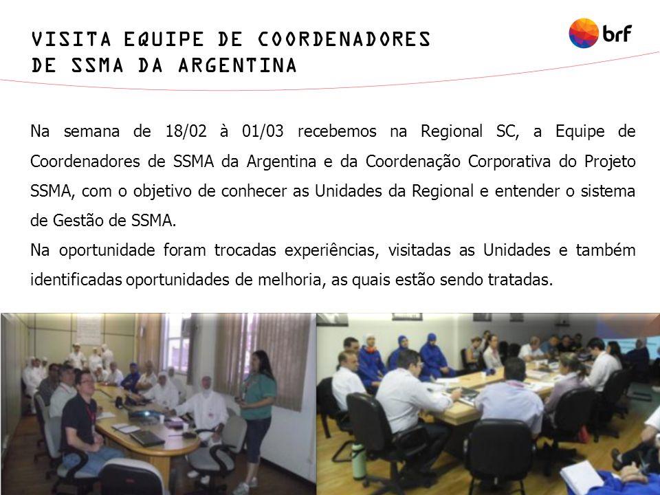 VISITA EQUIPE DE COORDENADORES DE SSMA DA ARGENTINA