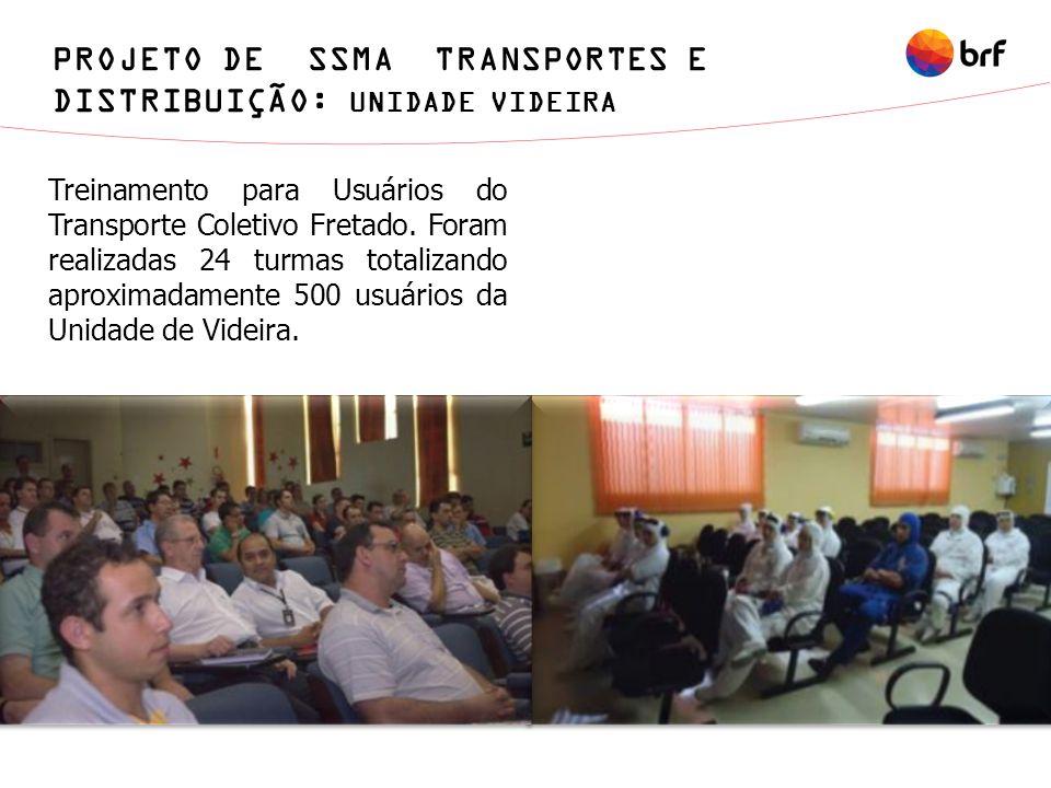 PROJETO DE SSMA TRANSPORTES E DISTRIBUIÇÃO: UNIDADE VIDEIRA