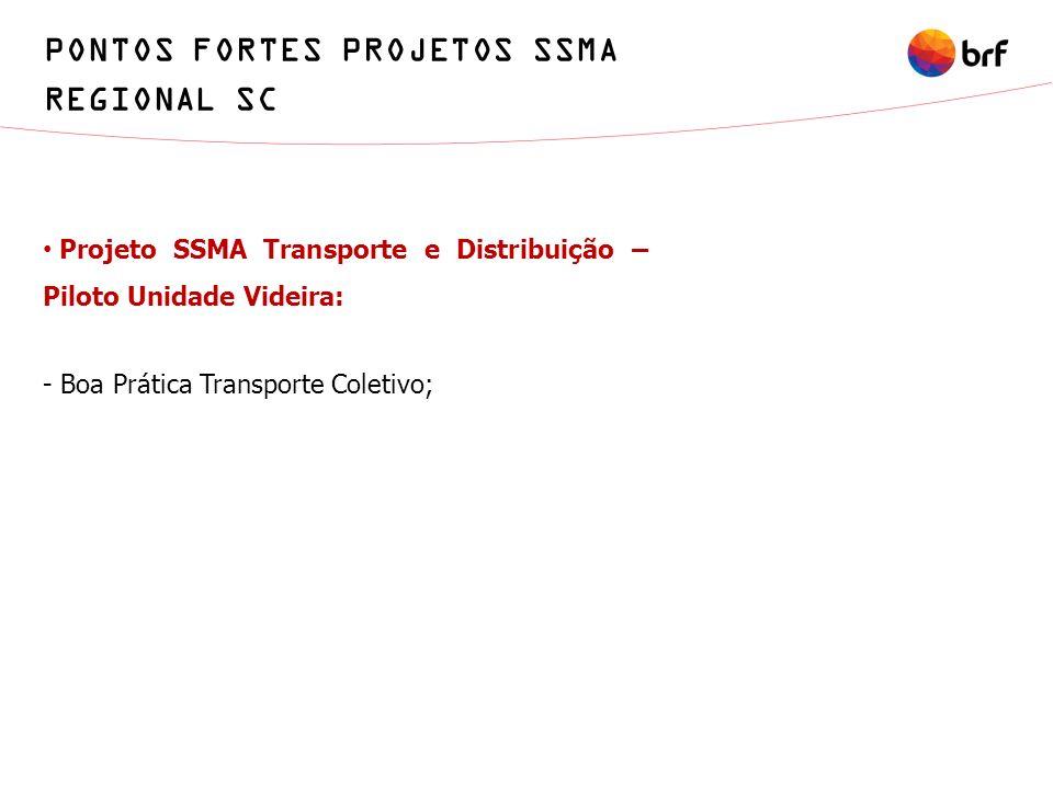 PONTOS FORTES PROJETOS SSMA REGIONAL SC