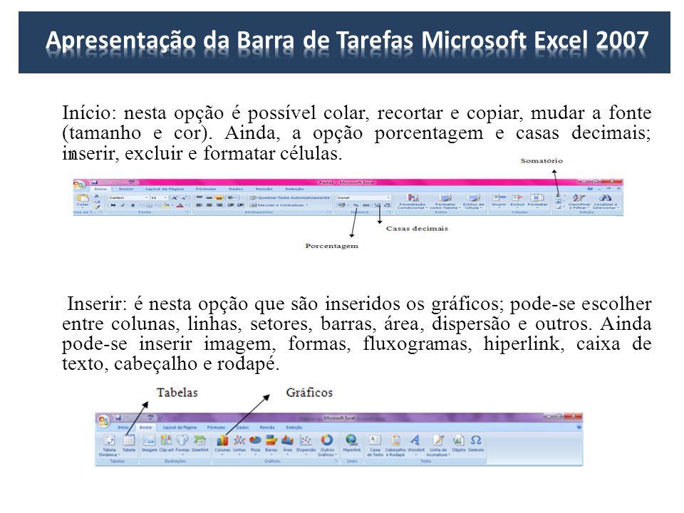 Apresentação da Barra de Tarefas Microsoft Excel 2007