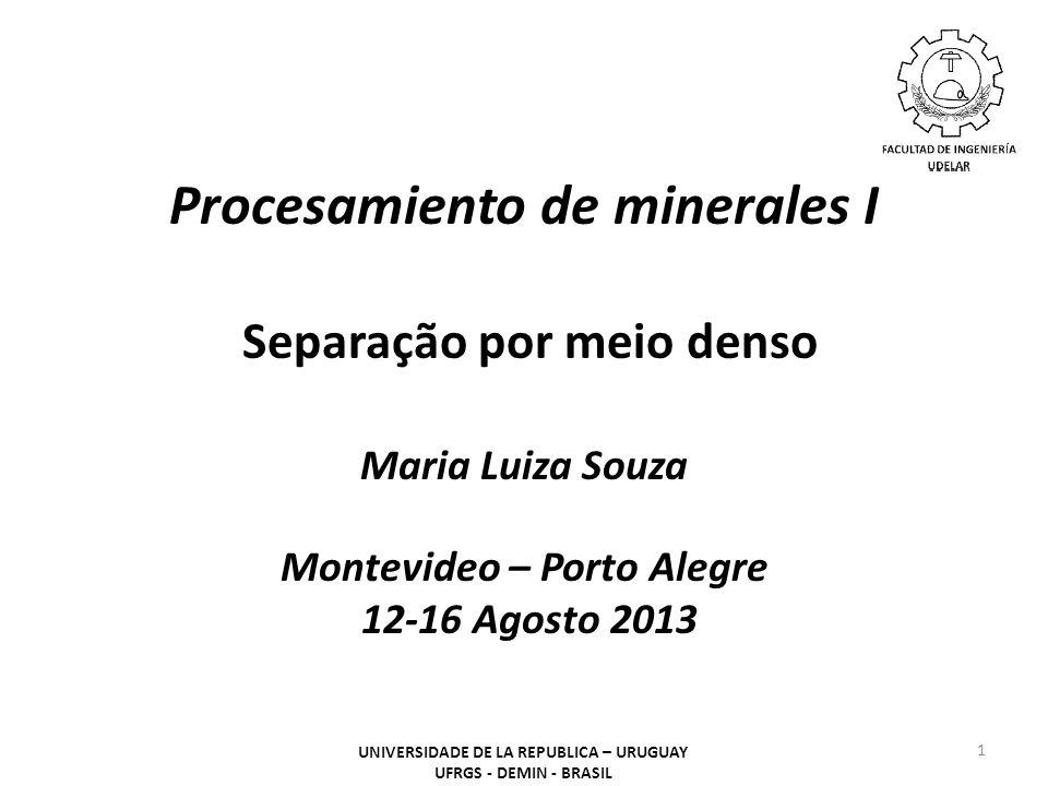 Procesamiento de minerales I Separação por meio denso
