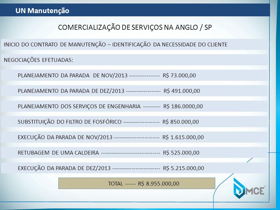 COMERCIALIZAÇÃO DE SERVIÇOS NA ANGLO / SP