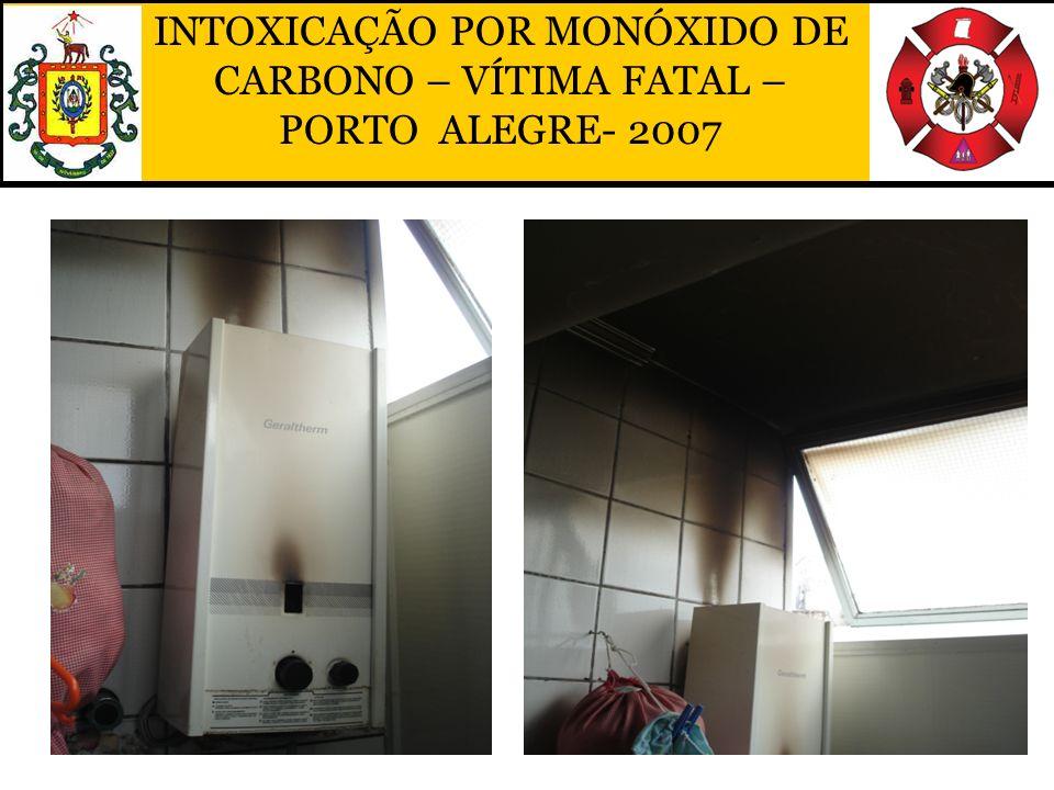 INTOXICAÇÃO POR MONÓXIDO DE CARBONO – VÍTIMA FATAL – PORTO ALEGRE- 2007