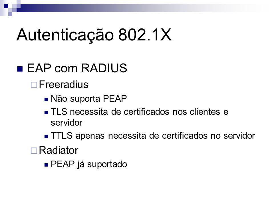 Autenticação 802.1X EAP com RADIUS Freeradius Radiator