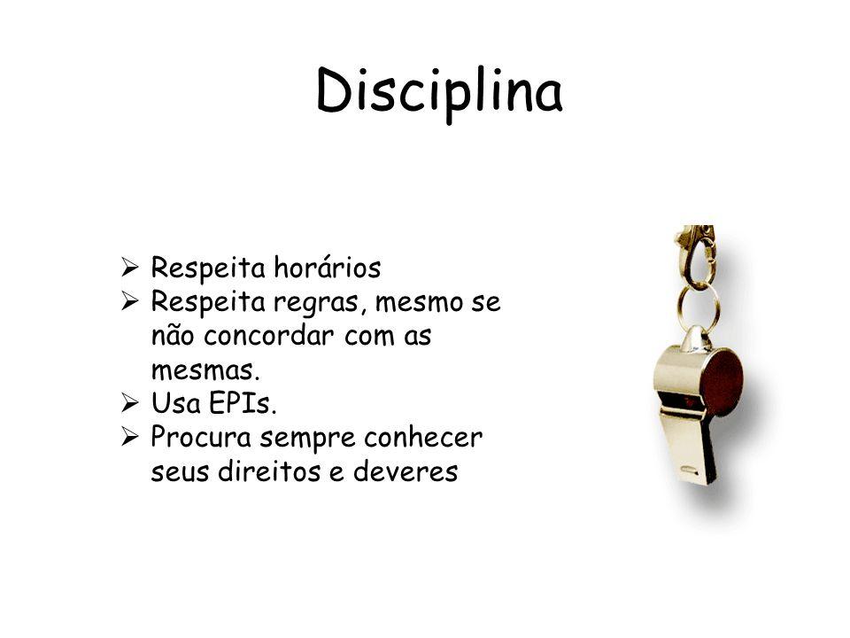 Disciplina Respeita horários