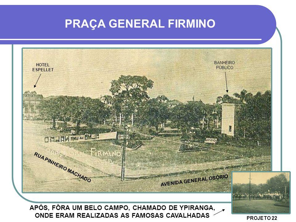 PRAÇA GENERAL FIRMINO BANHEIRO PÚBLICO. HOTEL ESPELLET.
