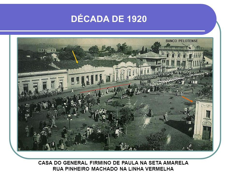 DÉCADA DE 1920 BANCO PELOTENSE.