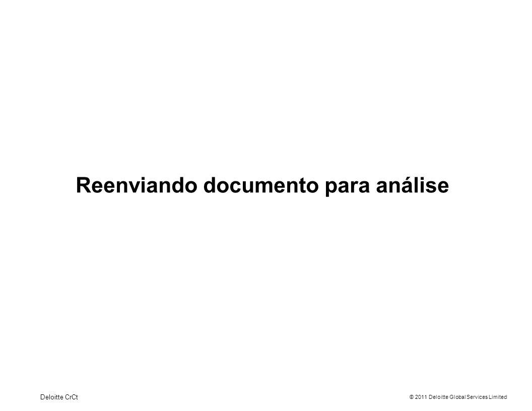 Reenviando documento para análise
