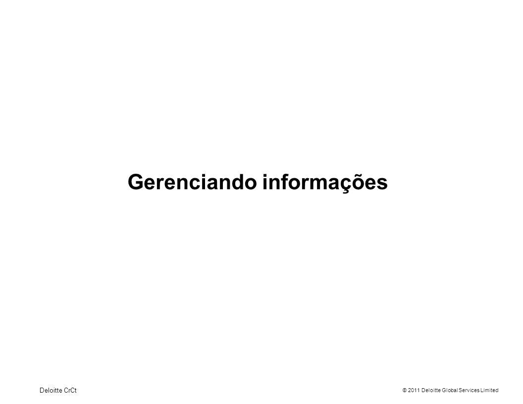 Gerenciando informações