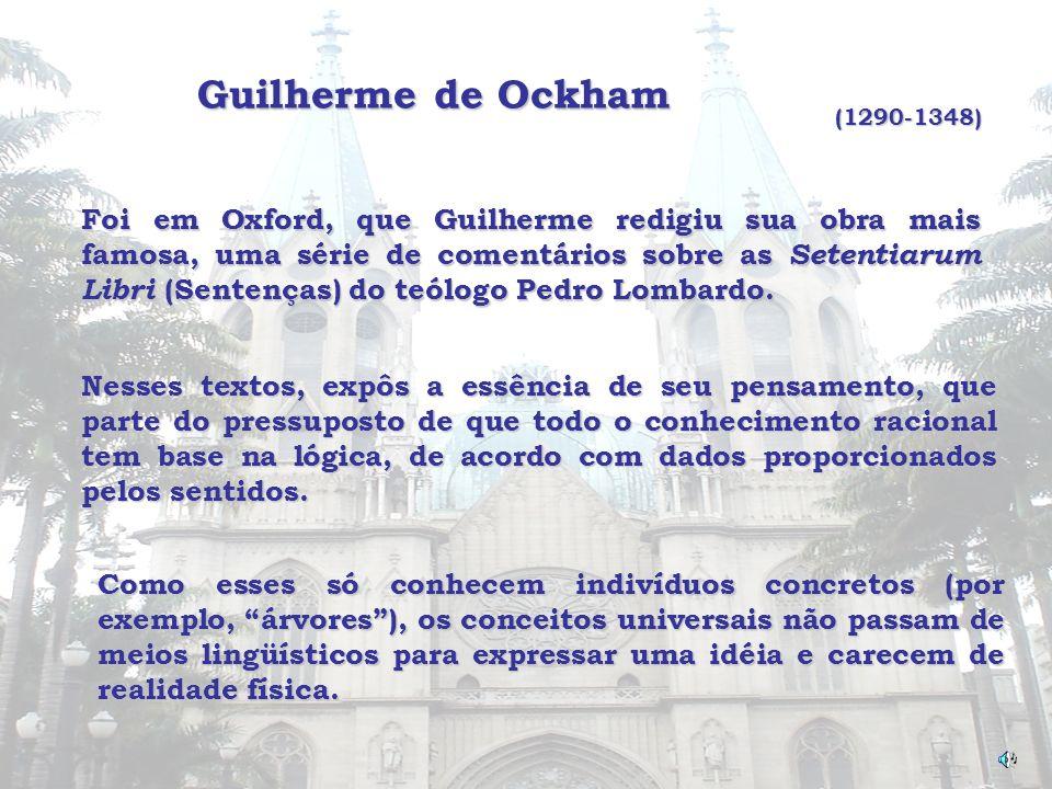 Guilherme de Ockham (1290-1348)