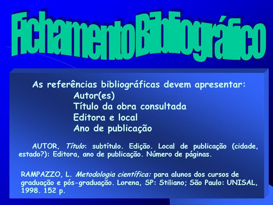 Fichamento Bibliográfico