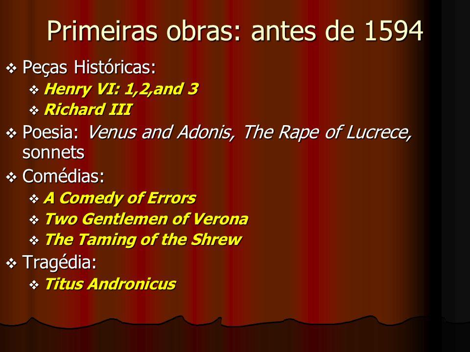 Primeiras obras: antes de 1594