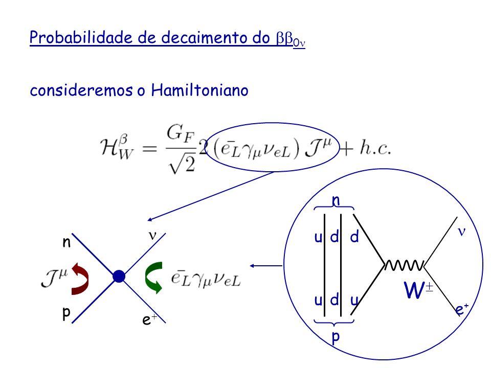 W Probabilidade de decaimento do bb0n consideremos o Hamiltoniano n
