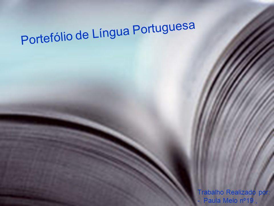 Portefólio de Língua Portuguesa