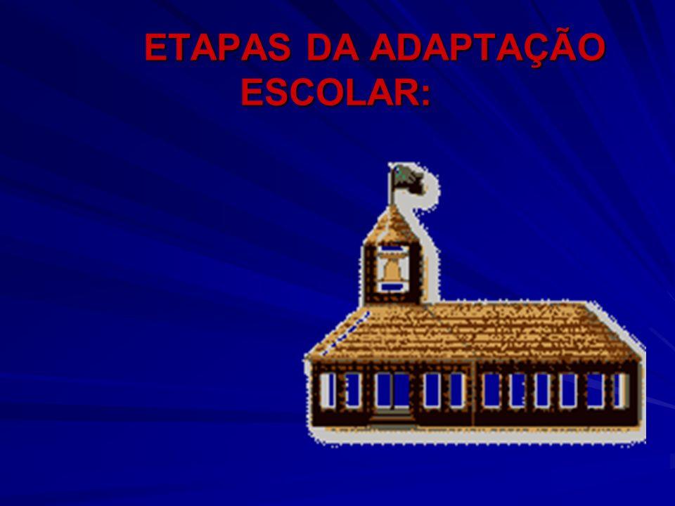 ETAPAS DA ADAPTAÇÃO ESCOLAR: