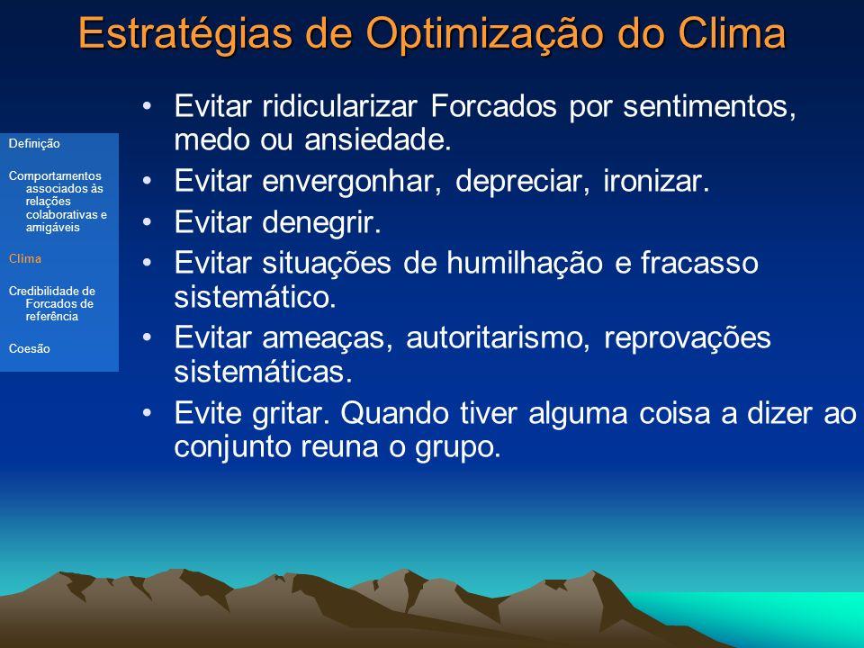 Estratégias de Optimização do Clima