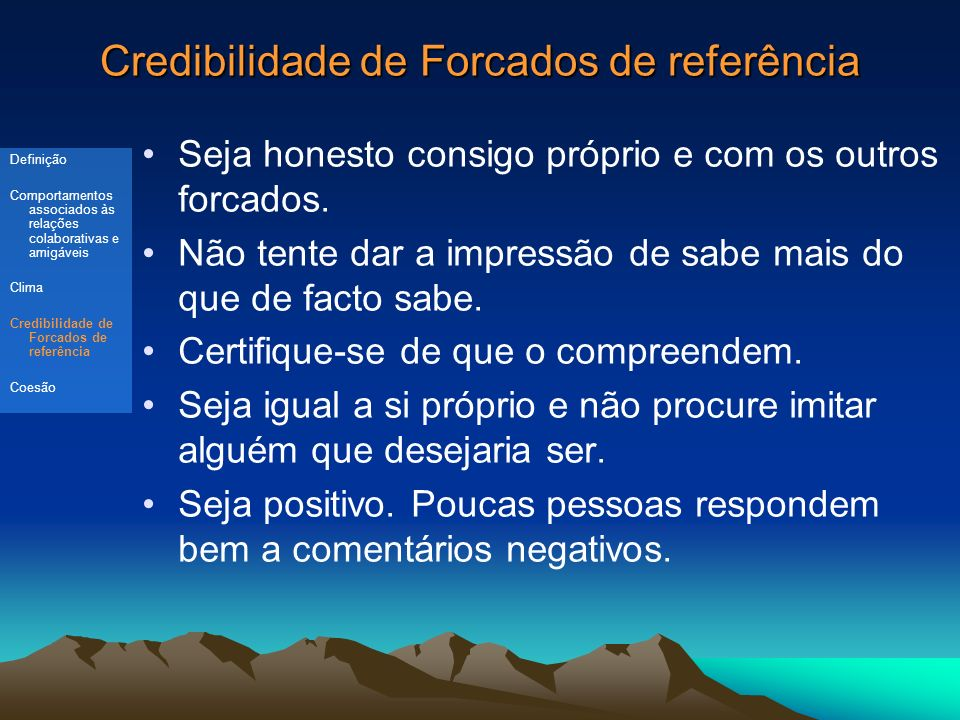 Credibilidade de Forcados de referência