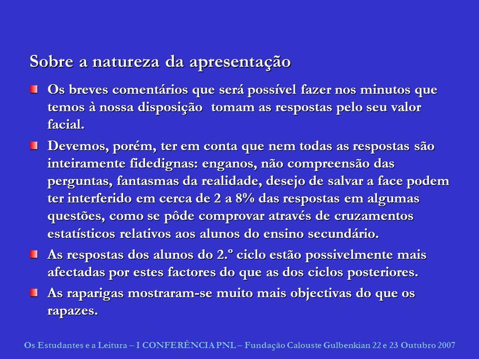 Sobre a natureza da apresentação