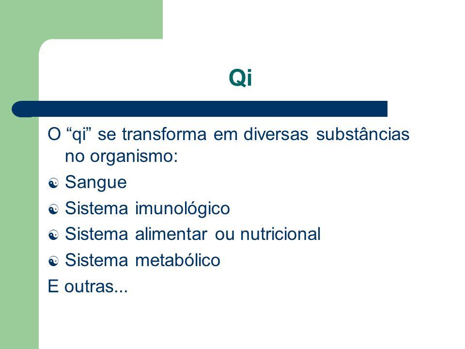 Qi O qi se transforma em diversas substâncias no organismo: Sangue