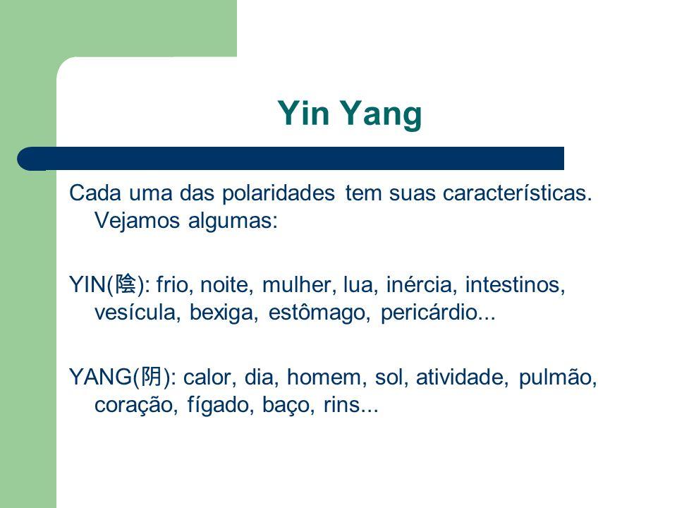 Yin Yang Cada uma das polaridades tem suas características. Vejamos algumas: