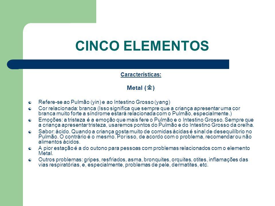 CINCO ELEMENTOS Metal (金) Características:
