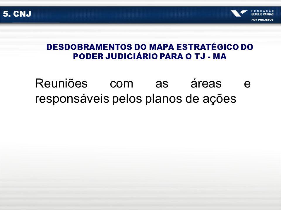 DESDOBRAMENTOS DO MAPA ESTRATÉGICO DO PODER JUDICIÁRIO PARA O TJ - MA