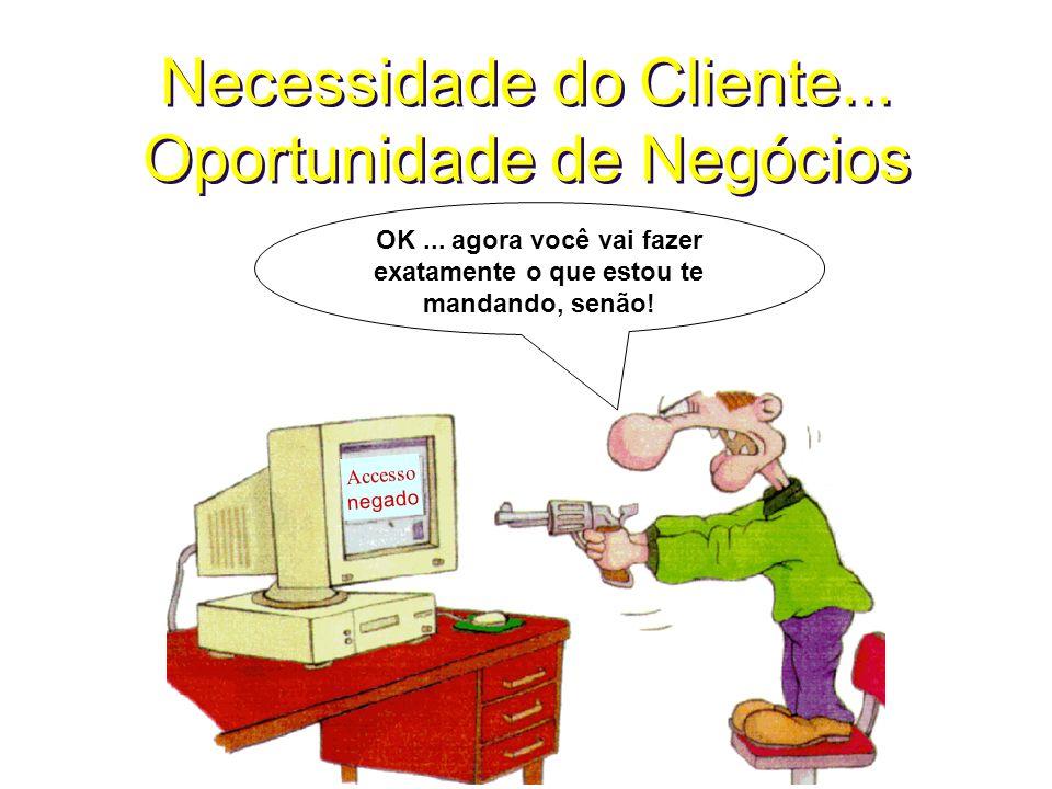 Necessidade do Cliente... Oportunidade de Negócios