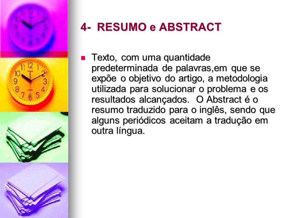 4- RESUMO e ABSTRACT