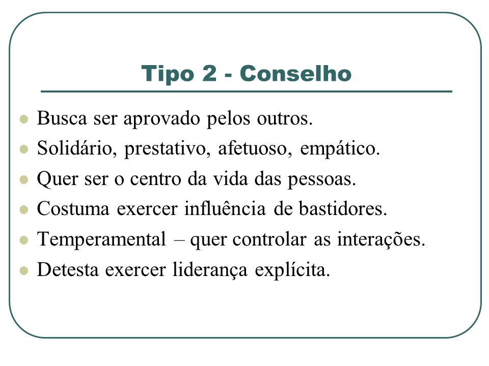 Tipo 2 - Conselho Busca ser aprovado pelos outros.