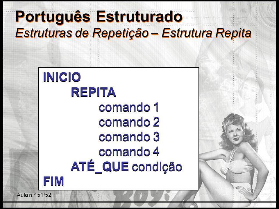 Português Estruturado Estruturas de Repetição – Estrutura Repita