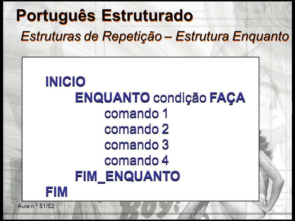 Português Estruturado Estruturas de Repetição – Estrutura Enquanto