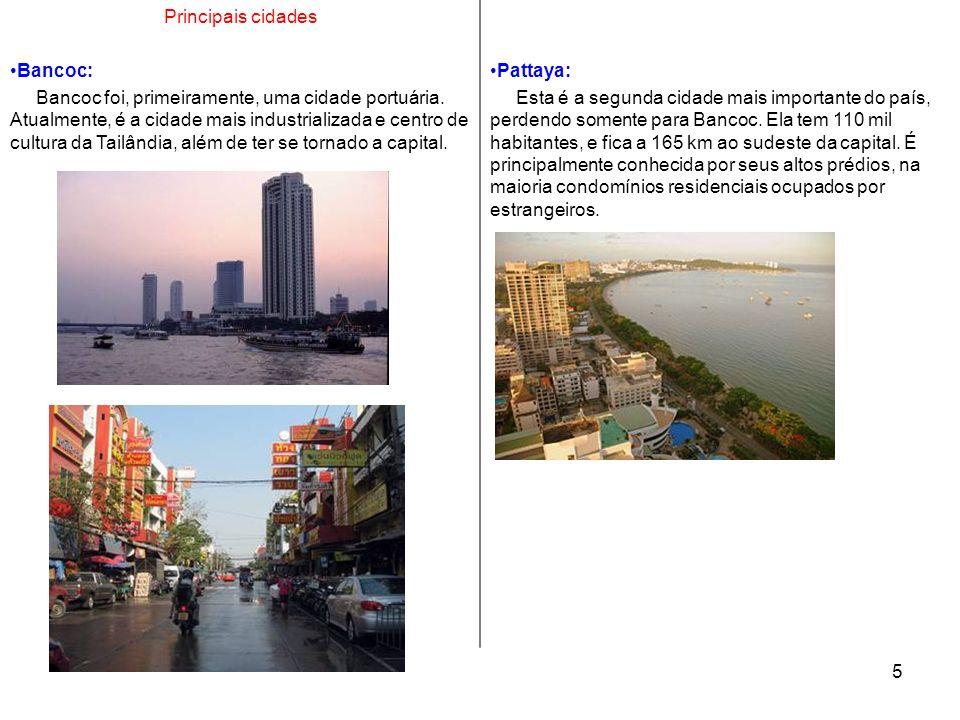 Principais cidades Bancoc: