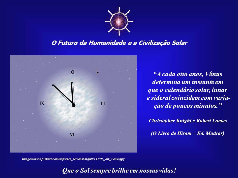 ☼ A cada oito anos, Vênus determina um instante em