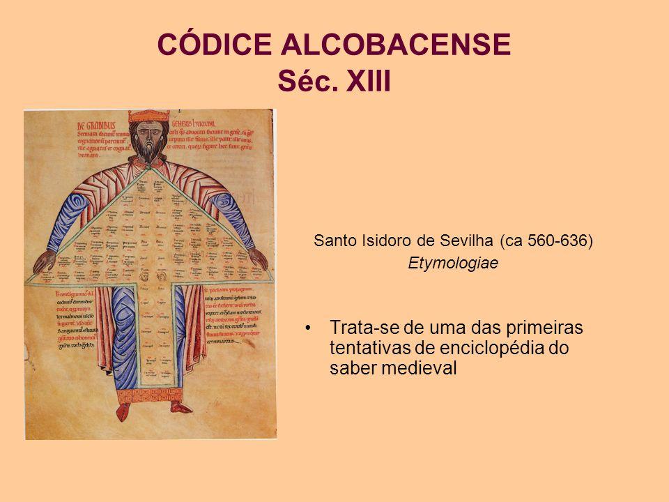 CÓDICE ALCOBACENSE Séc. XIII