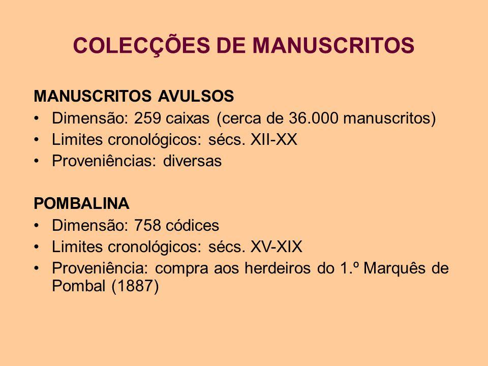 COLECÇÕES DE MANUSCRITOS