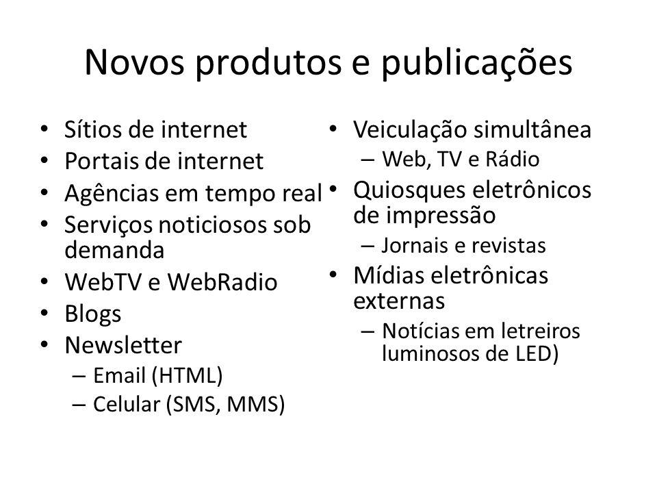 Novos produtos e publicações
