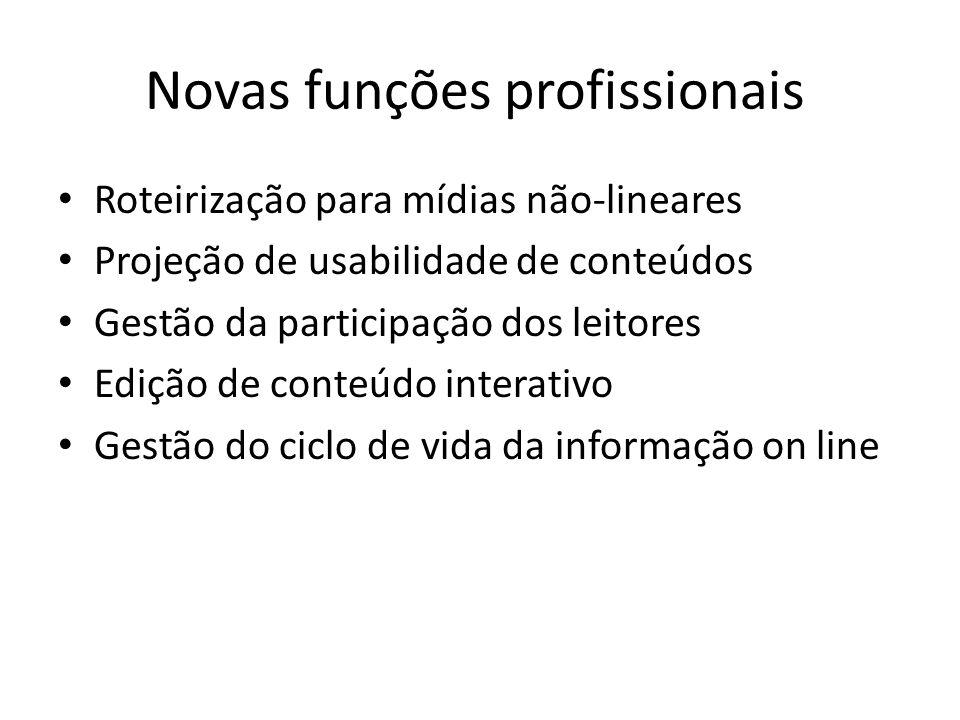 Novas funções profissionais