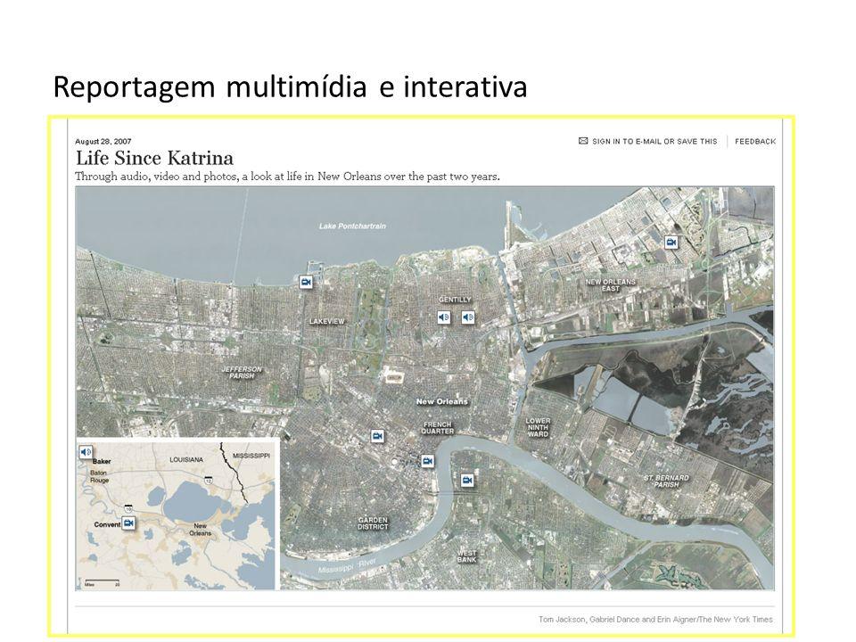 Reportagem multimídia e interativa