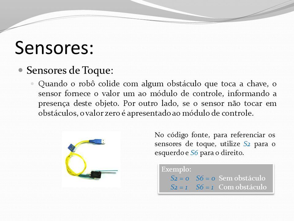 Sensores: Sensores de Toque:
