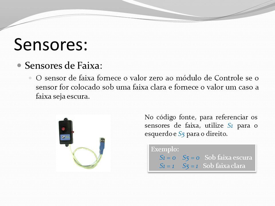 Sensores: Sensores de Faixa: