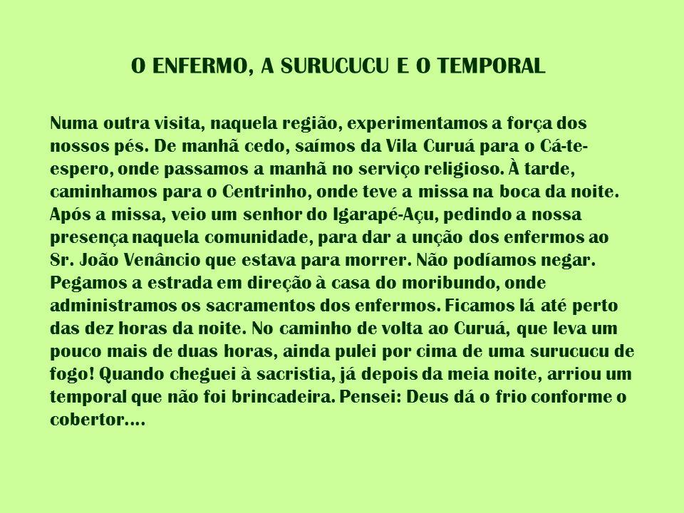 O ENFERMO, A SURUCUCU E O TEMPORAL